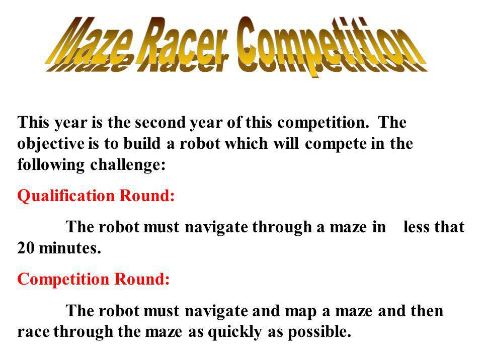 Maze Racer Competition