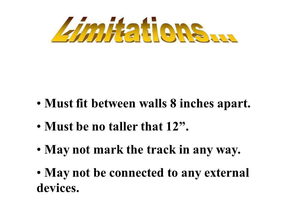 Limitations... Must fit between walls 8 inches apart.