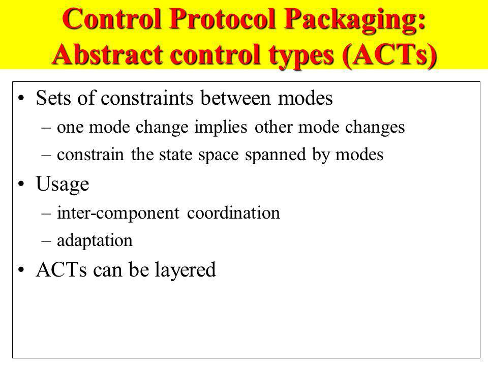 Control Protocol Packaging: Abstract control types (ACTs)
