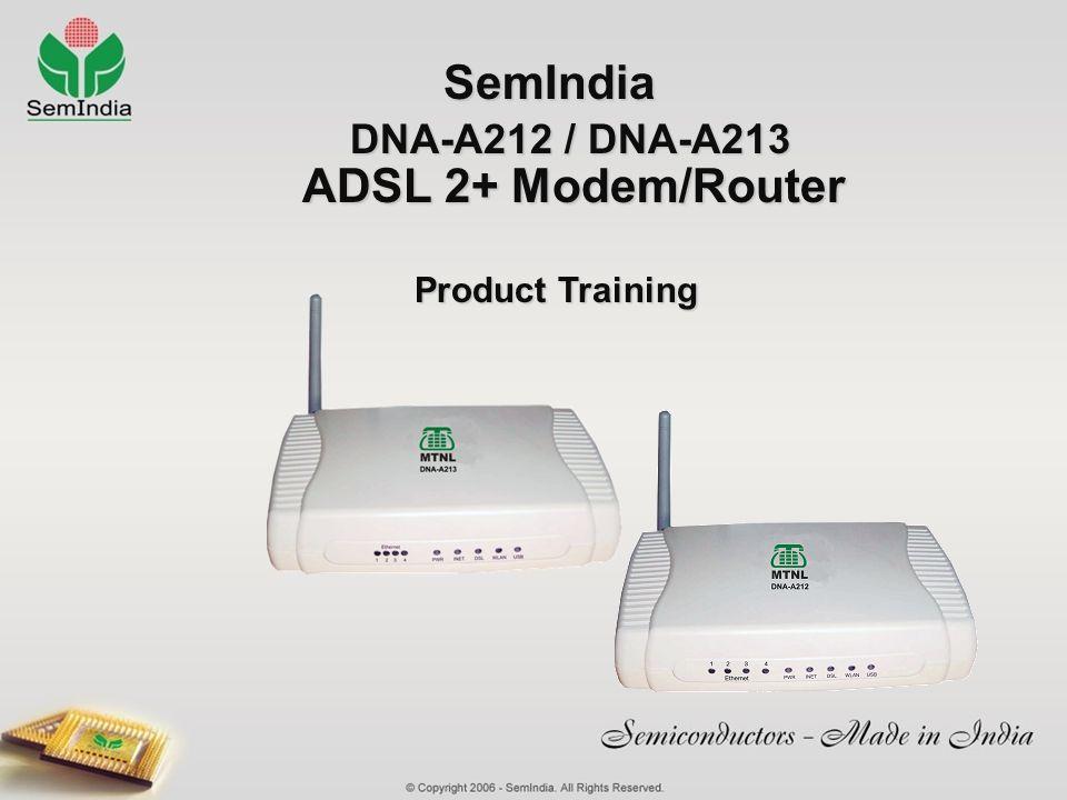 DNA-A212 / DNA-A213 ADSL 2+ Modem/Router