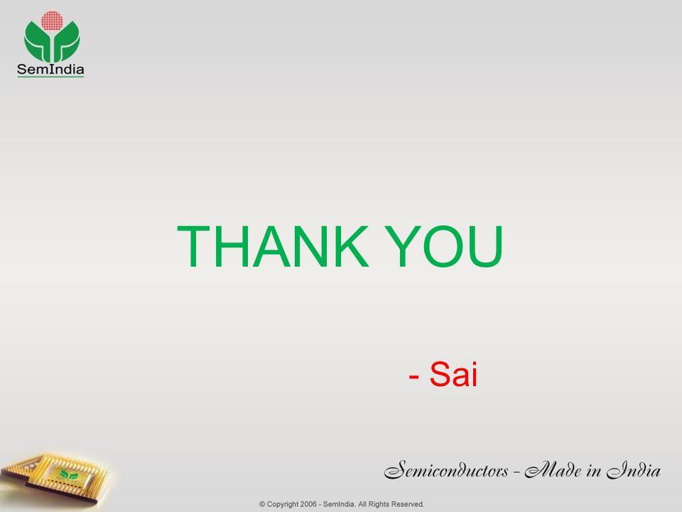 THANK YOU - Sai