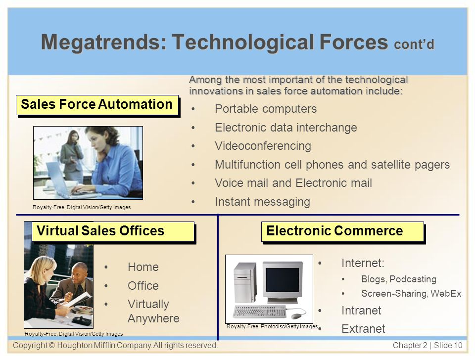 Megatrends: Technological Forces cont'd