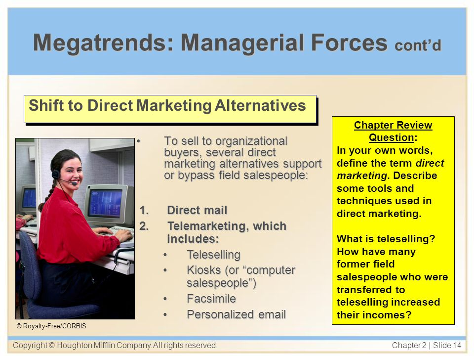 Megatrends: Managerial Forces cont'd