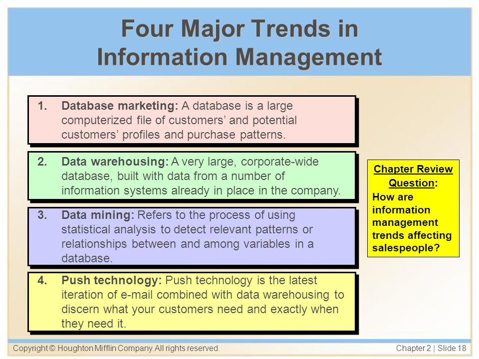 Four Major Trends in Information Management