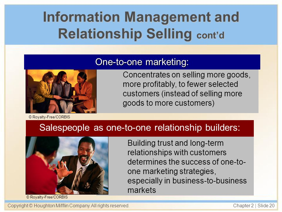 Information Management and Relationship Selling cont'd