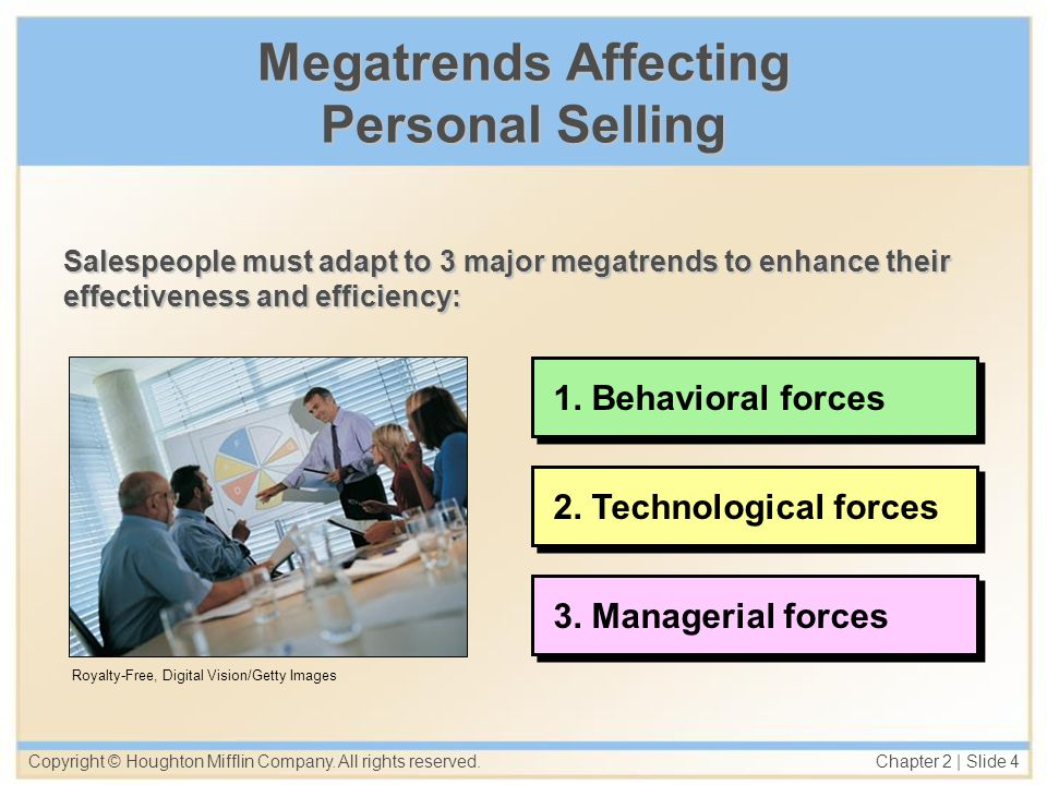 Megatrends Affecting Personal Selling