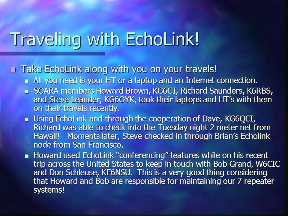 Traveling with EchoLink!