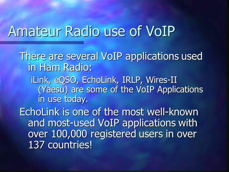 Amateur Radio use of VoIP