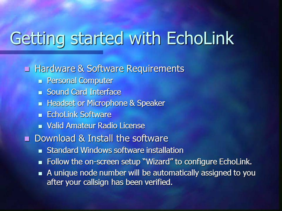 Getting started with EchoLink