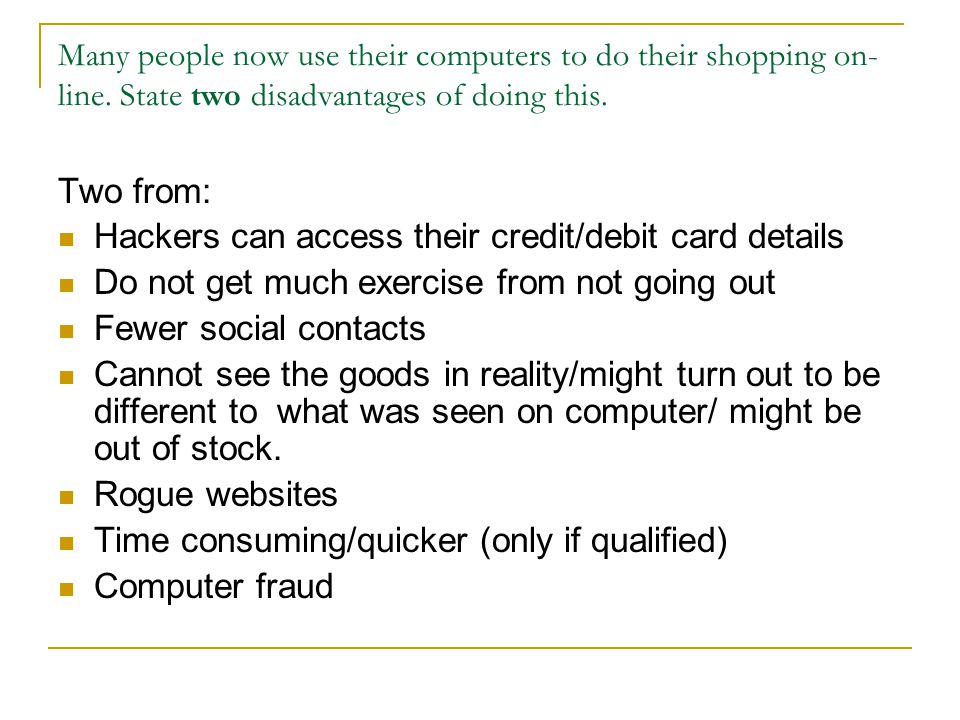 Hackers can access their credit/debit card details