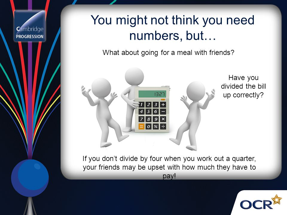 You might not think you need numbers, but…