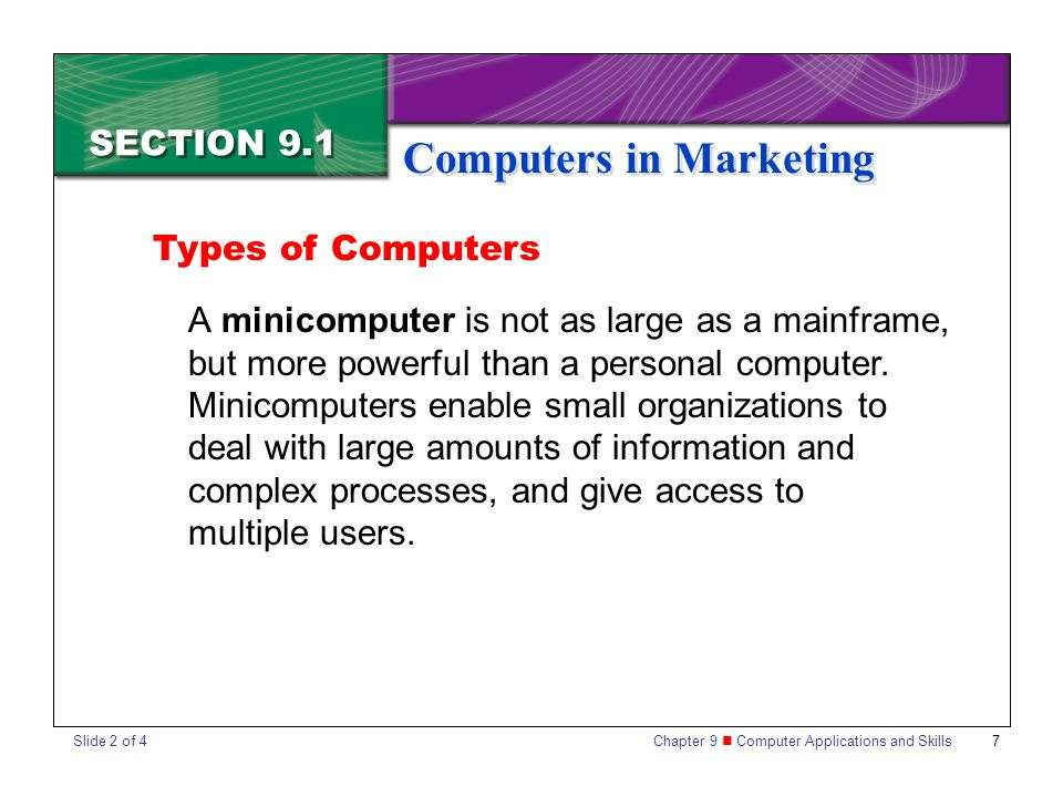 Computers in Marketing