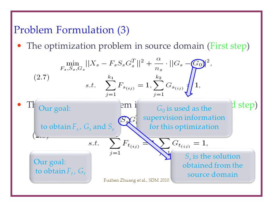 Problem Formulation (3)