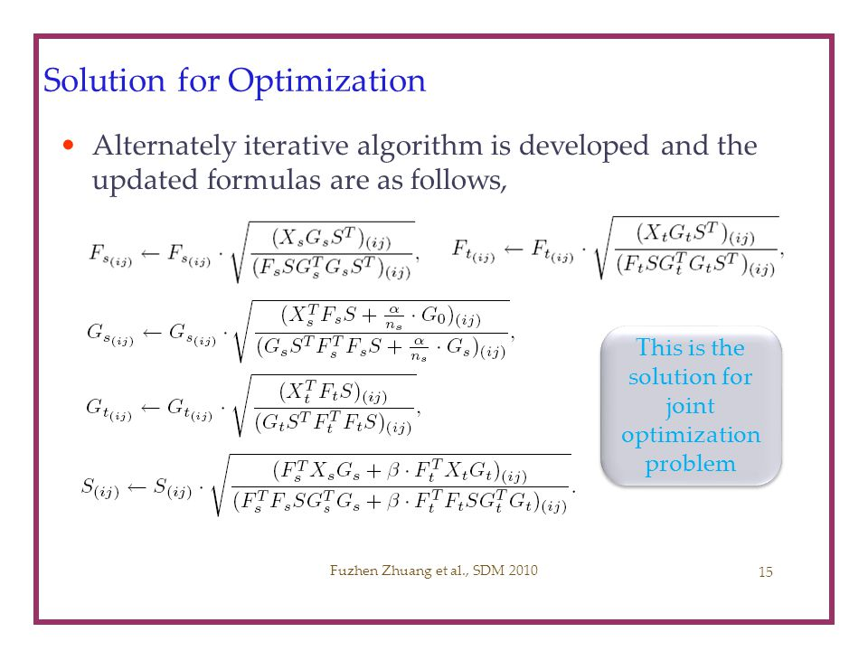 Solution for Optimization