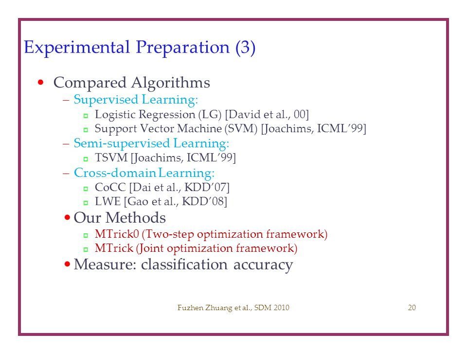 Experimental Preparation (3)