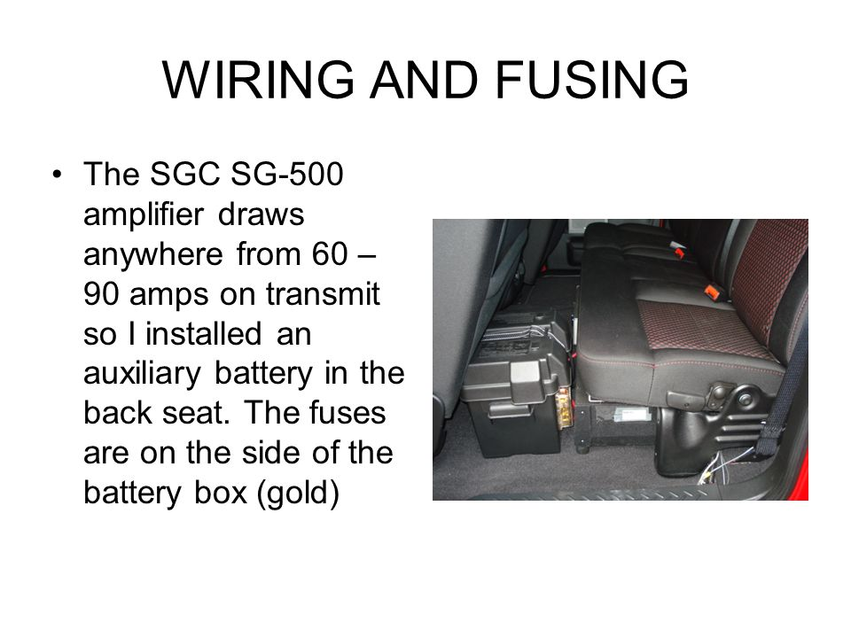 WIRING AND FUSING