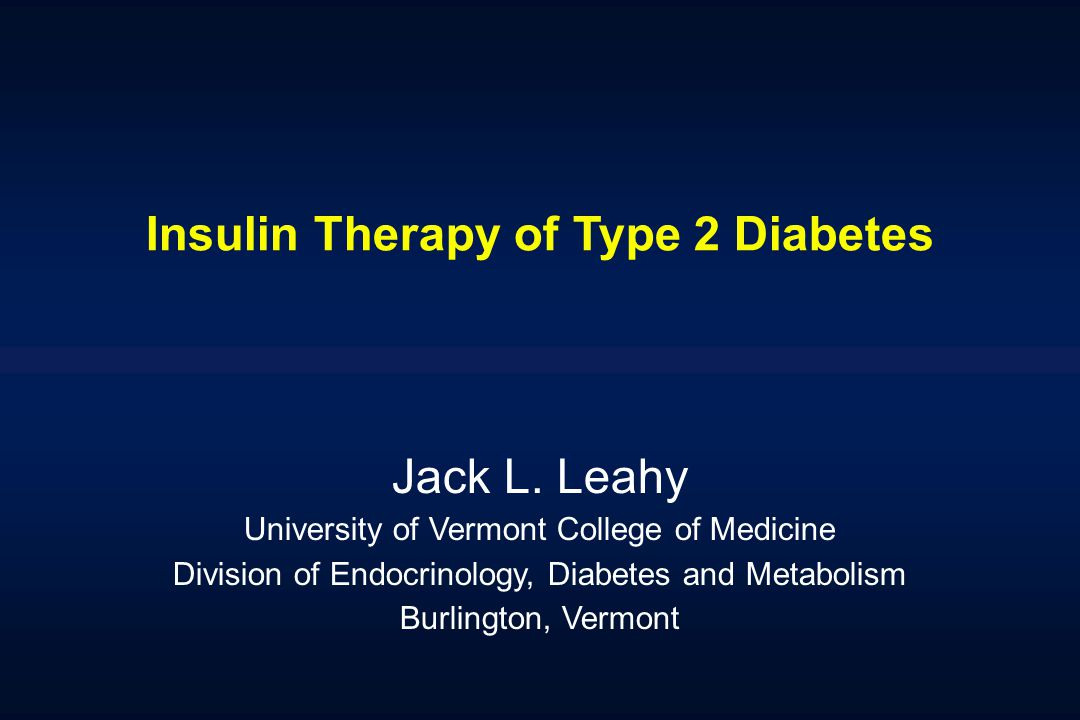 Insulin Therapy of Type 2 Diabetes