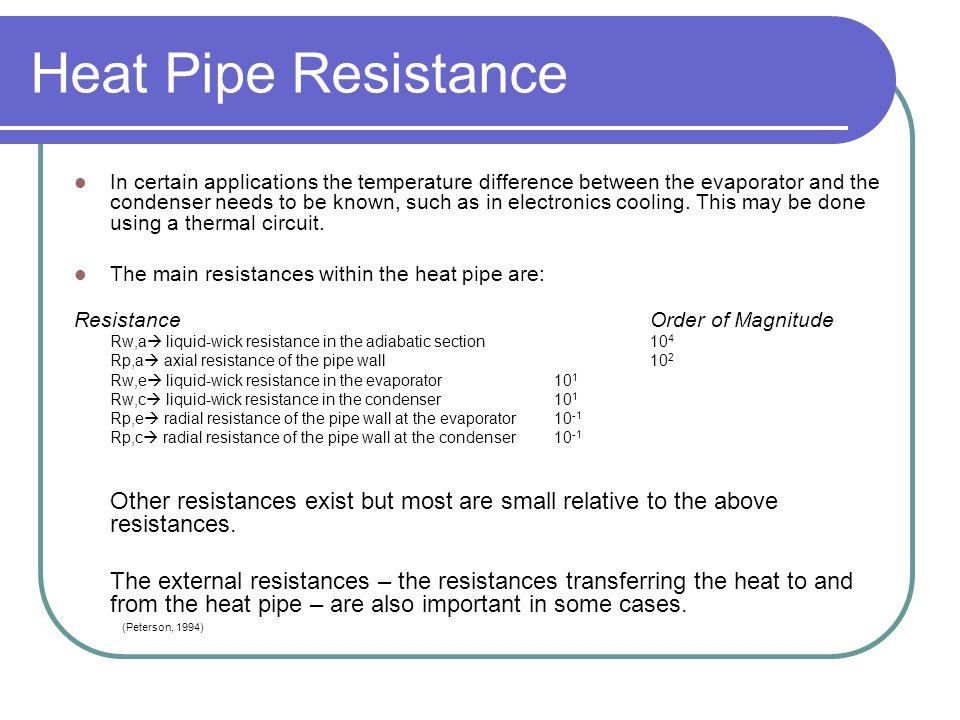 Heat Pipe Resistance