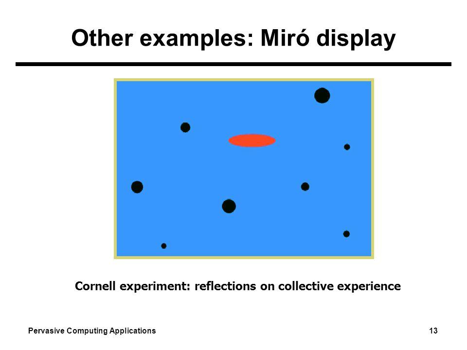 Other examples: Miró display