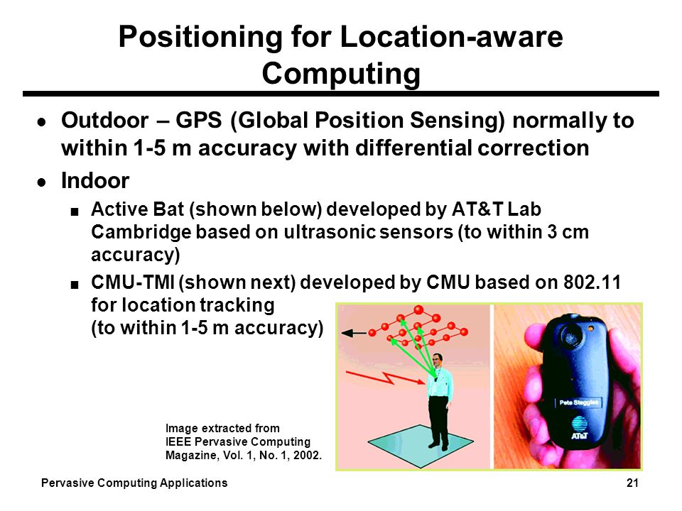 Positioning for Location-aware Computing