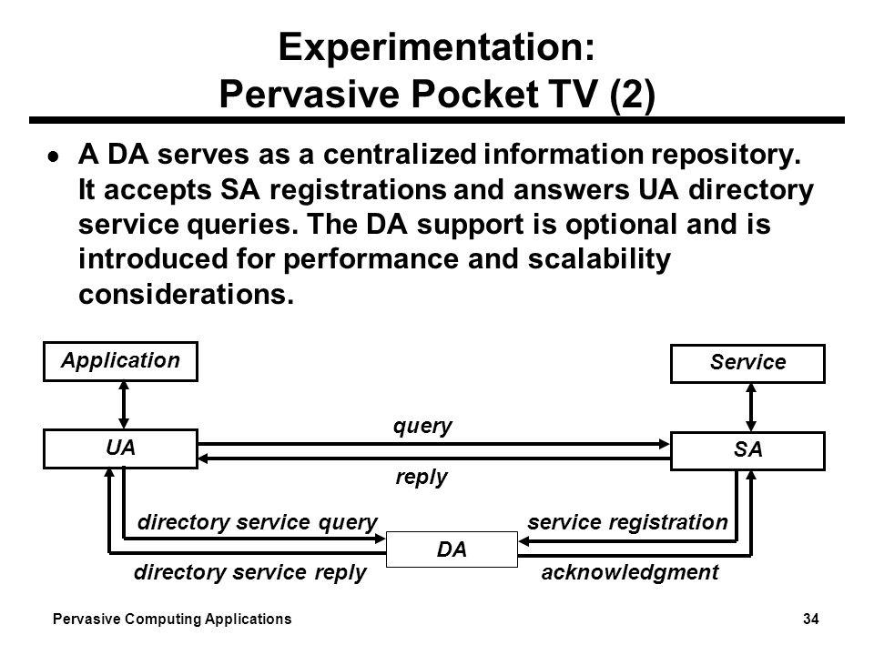 Experimentation: Pervasive Pocket TV (2)