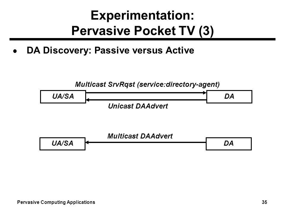 Experimentation: Pervasive Pocket TV (3)