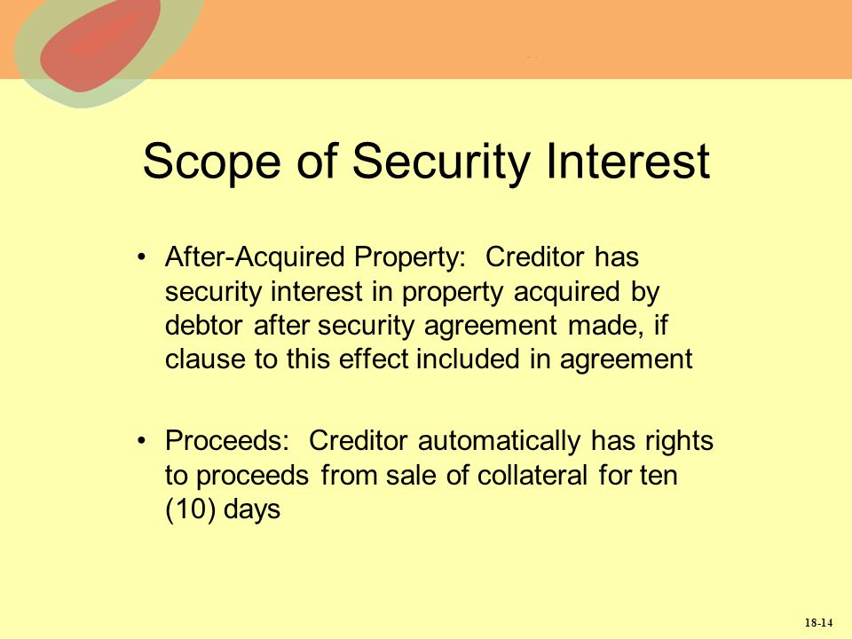 Scope of Security Interest