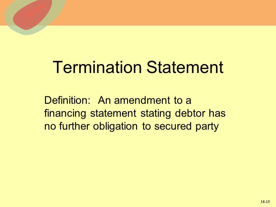 Termination Statement