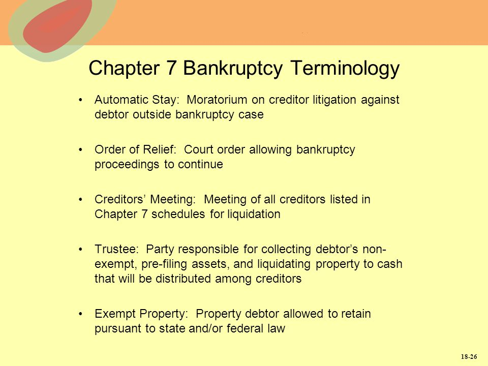 Chapter 7 Bankruptcy Terminology