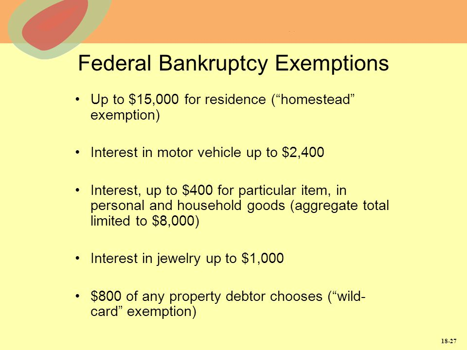 Federal Bankruptcy Exemptions