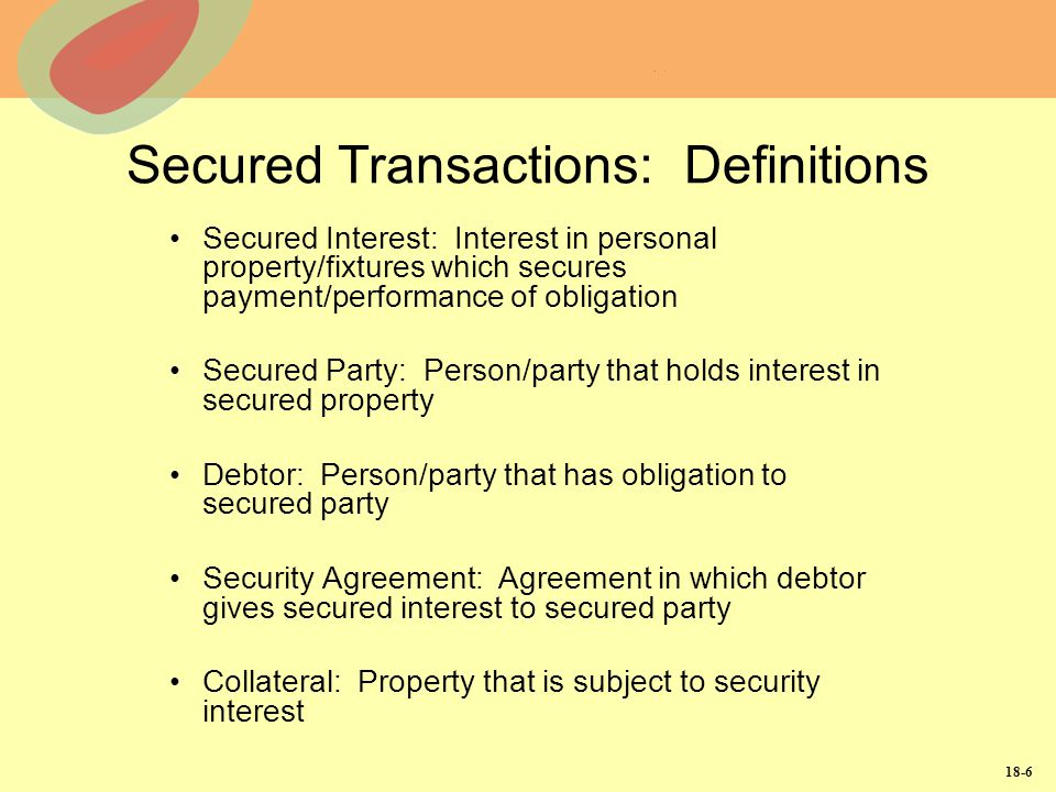 Secured Transactions: Definitions