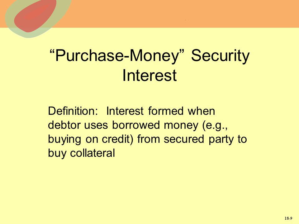 Purchase-Money Security Interest