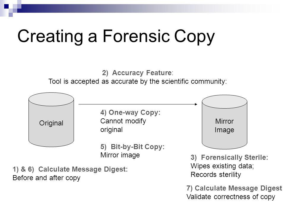 Creating a Forensic Copy