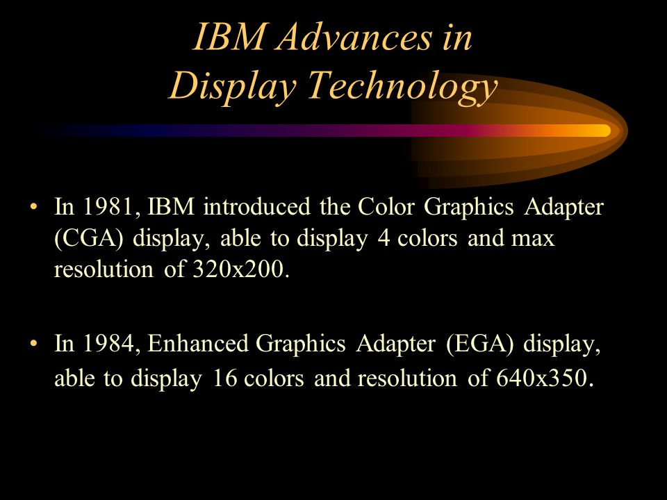 IBM Advances in Display Technology
