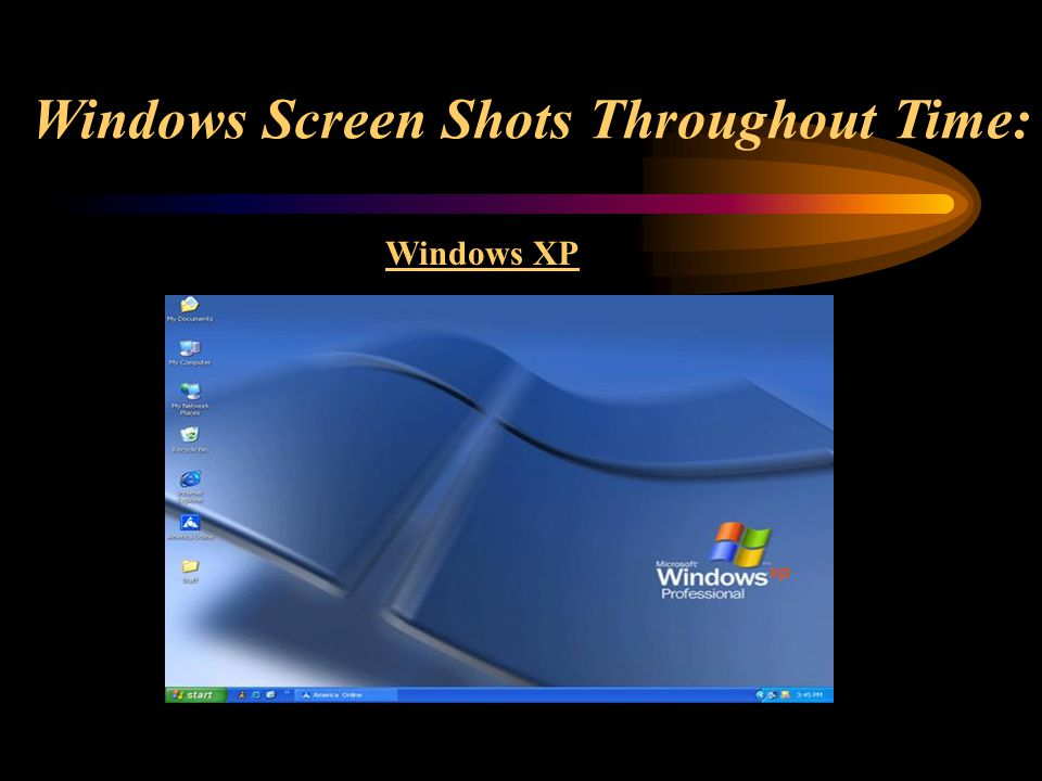Windows Screen Shots Throughout Time: