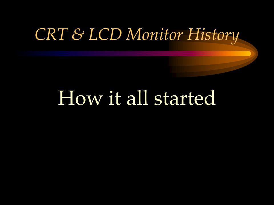 CRT & LCD Monitor History