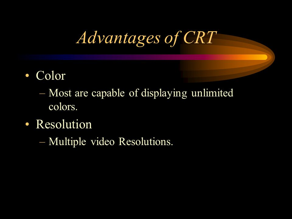 Advantages of CRT Color Resolution