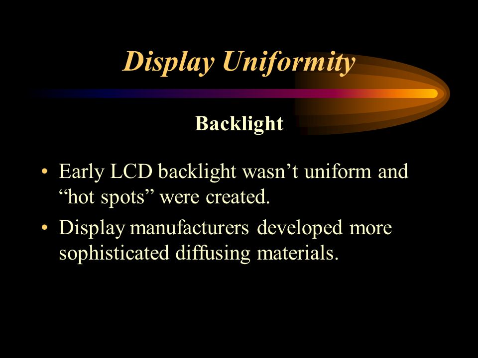 Display Uniformity Backlight