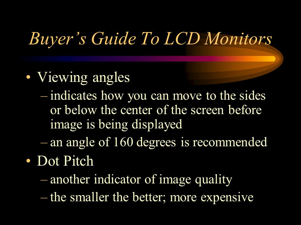 Buyer's Guide To LCD Monitors