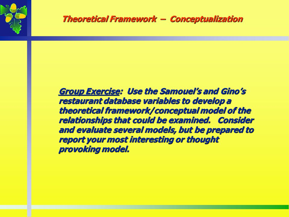 Theoretical Framework – Conceptualization