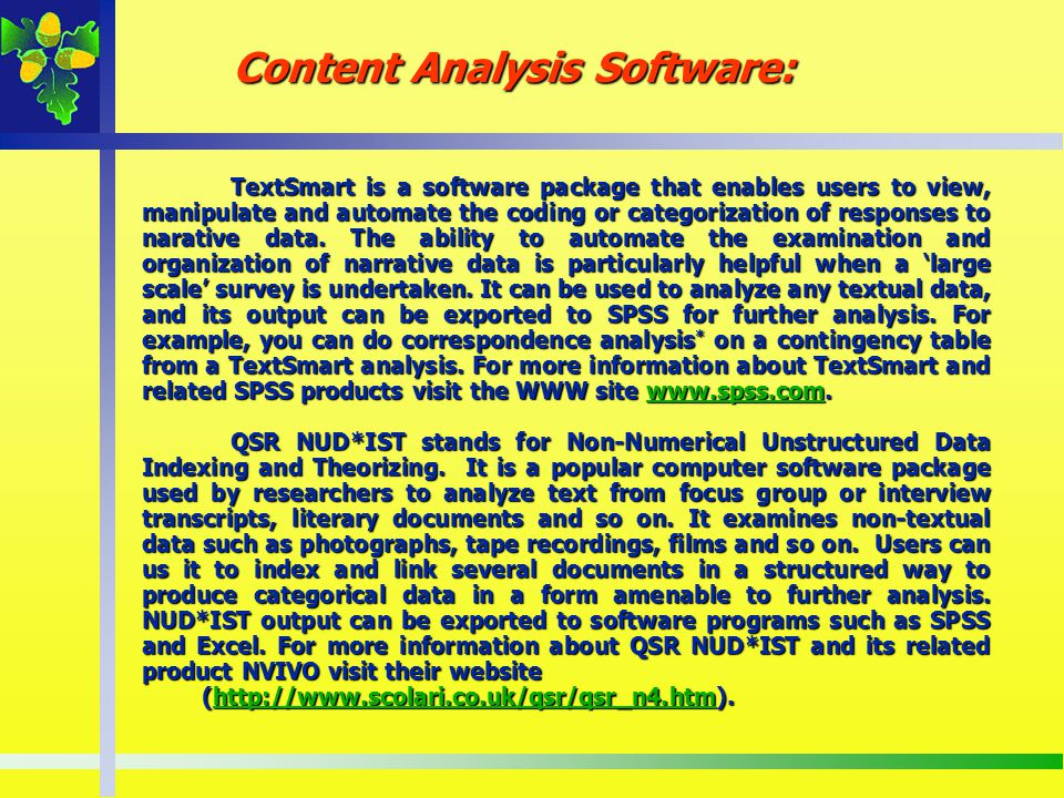 Content Analysis Software: