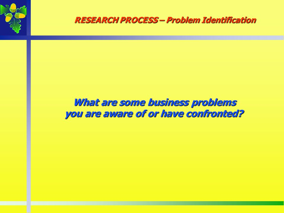 What are some business problems you are aware of or have confronted