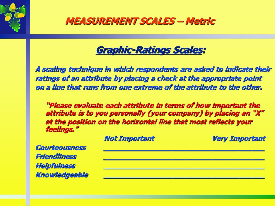 Graphic-Ratings Scales: