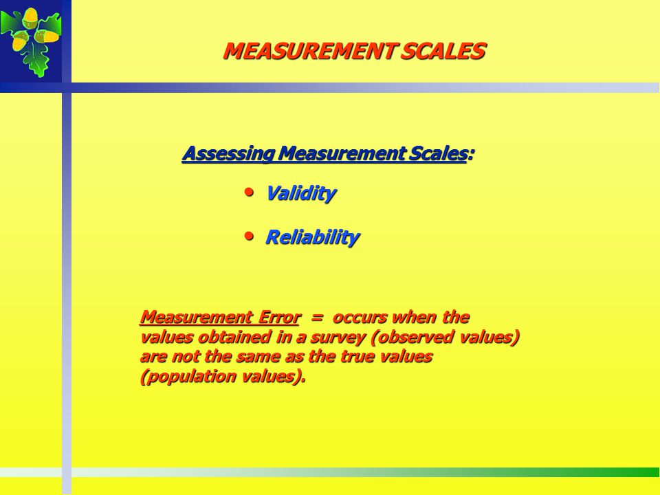 Assessing Measurement Scales: