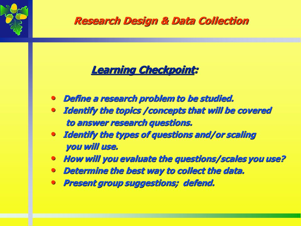 Research Design & Data Collection