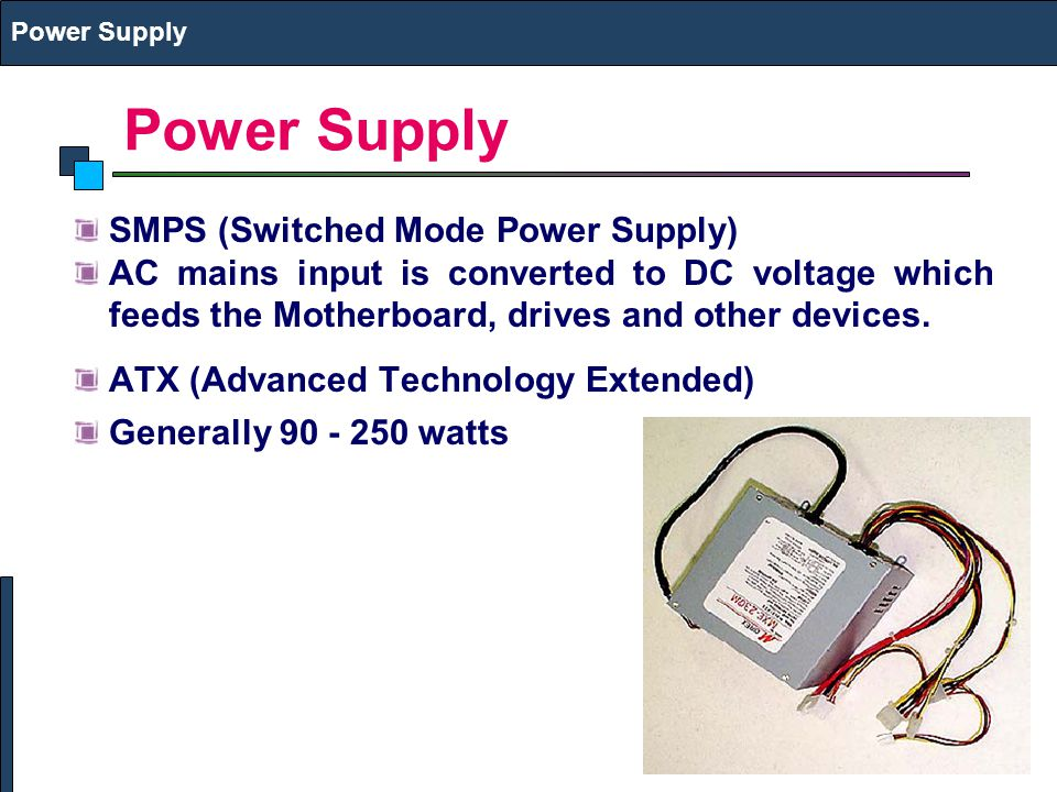 Power Supply SMPS (Switched Mode Power Supply)