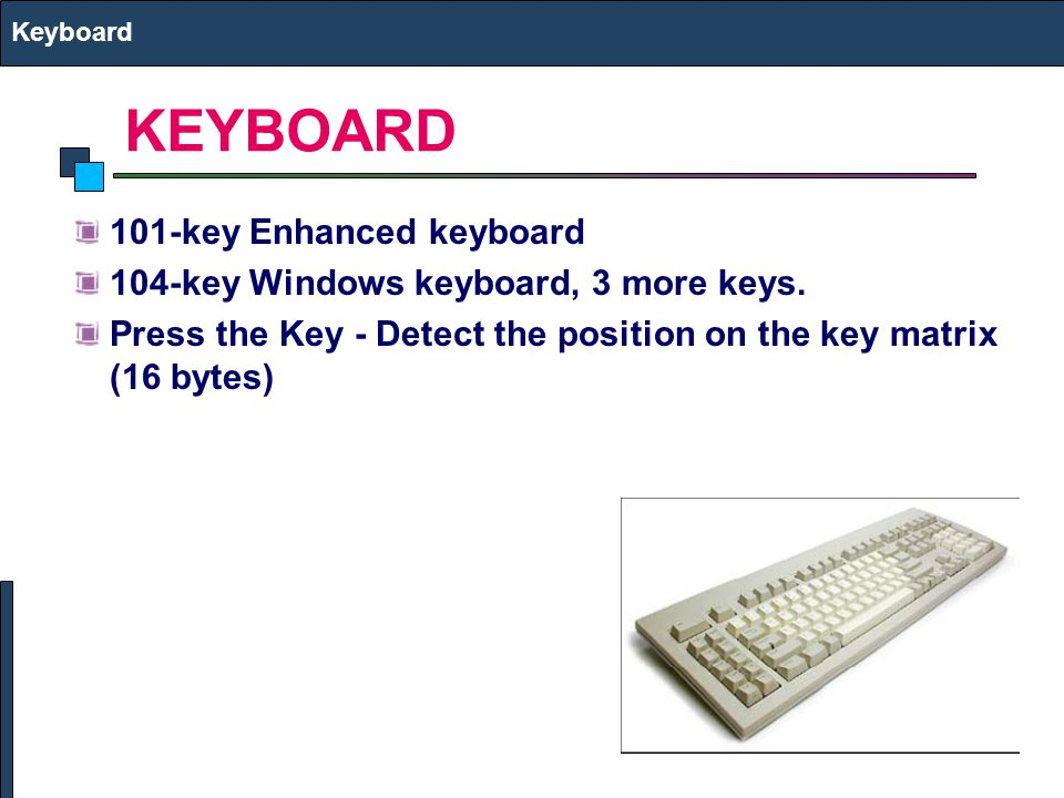 KEYBOARD 101-key Enhanced keyboard