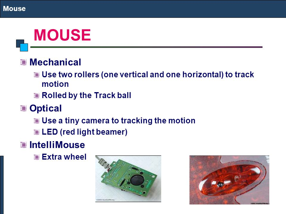 MOUSE Mechanical Optical IntelliMouse
