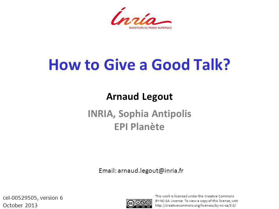 Arnaud Legout INRIA, Sophia Antipolis EPI Planète