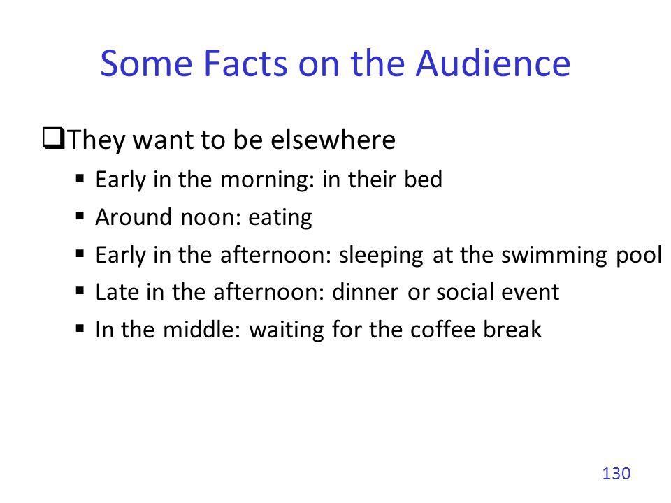 Some Facts on the Audience